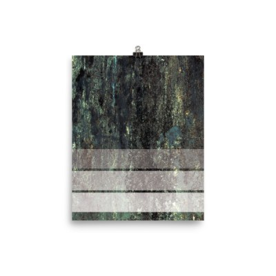 Three Stripe Grunge Poster