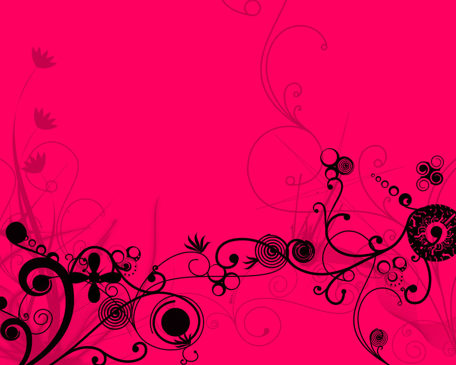 Black And Pink Floral Wallpaper Hot Pink Flower Wallpapers 39 Wallpapers Adorable