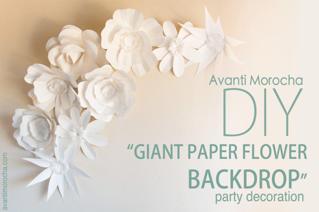 DIY Giant Paper Rose - Avanti Morocha - profile sheet template