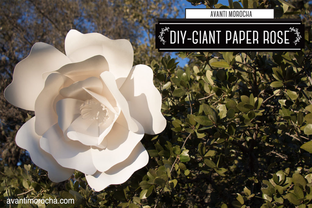 DIY Giant Paper Rose - Avanti Morocha - home budget template