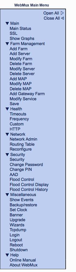 avanu webmux menu