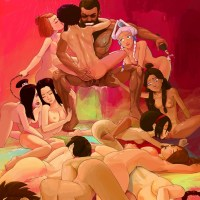 Avatar Aang cartoon orgy