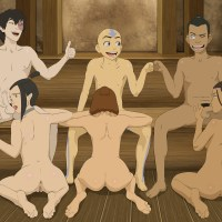 Aang, Sokka and Zuko will all get a blowjob tonight - Azula, Katara and Suki will take care of it!