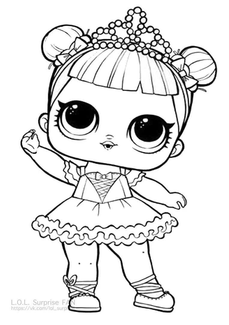 center stage lol surprise doll coloring page