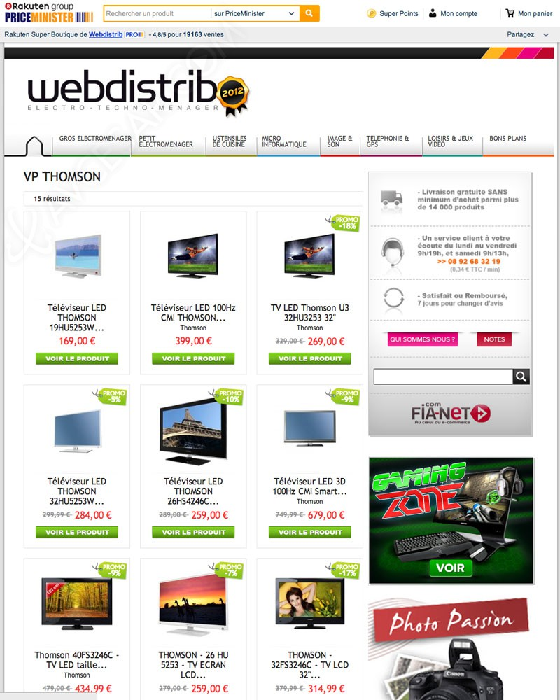Vente Privee Electromenager Ventes Privées Tv Thomson Bons Plans Price Minister