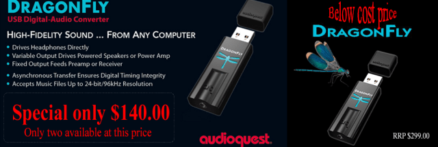 Audioquest Dragonfly $140.00