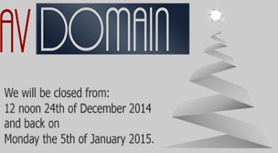 AV Domain Christmas 2014
