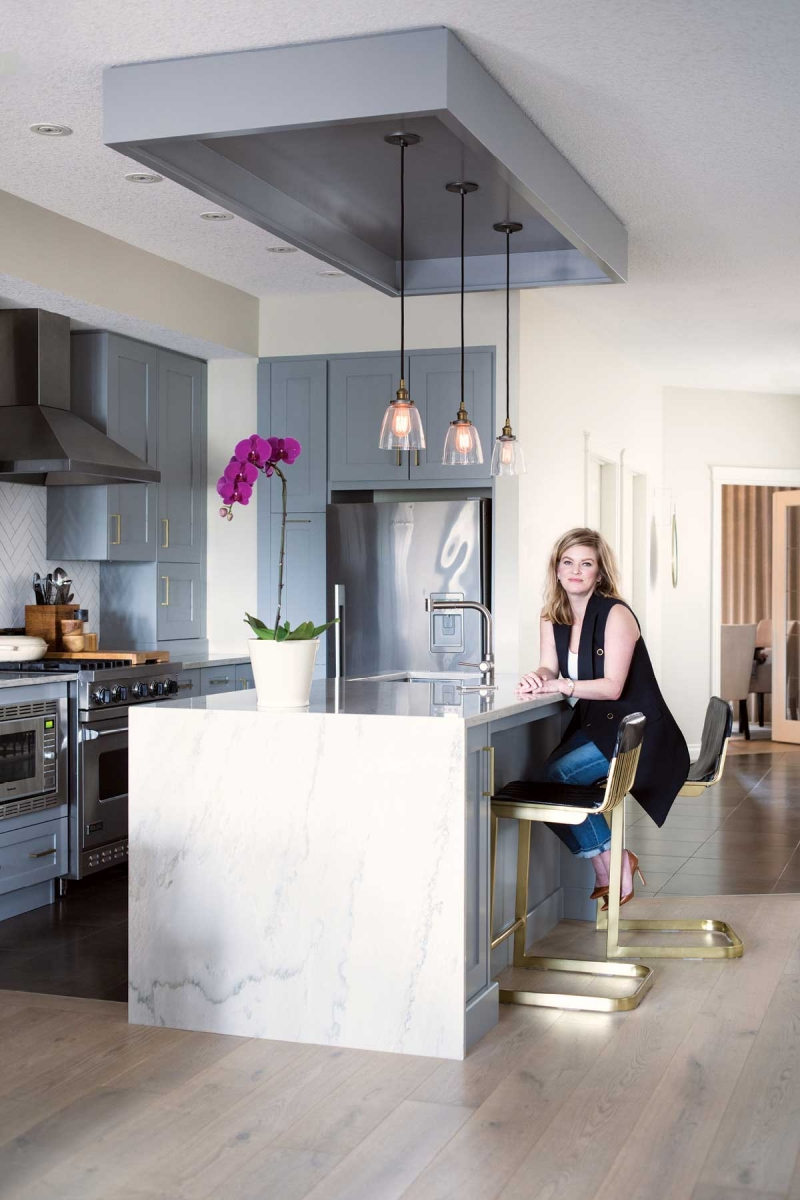 Glass Countertops Calgary Inside A Marda Loop Infill That Underwent A Major Transformation