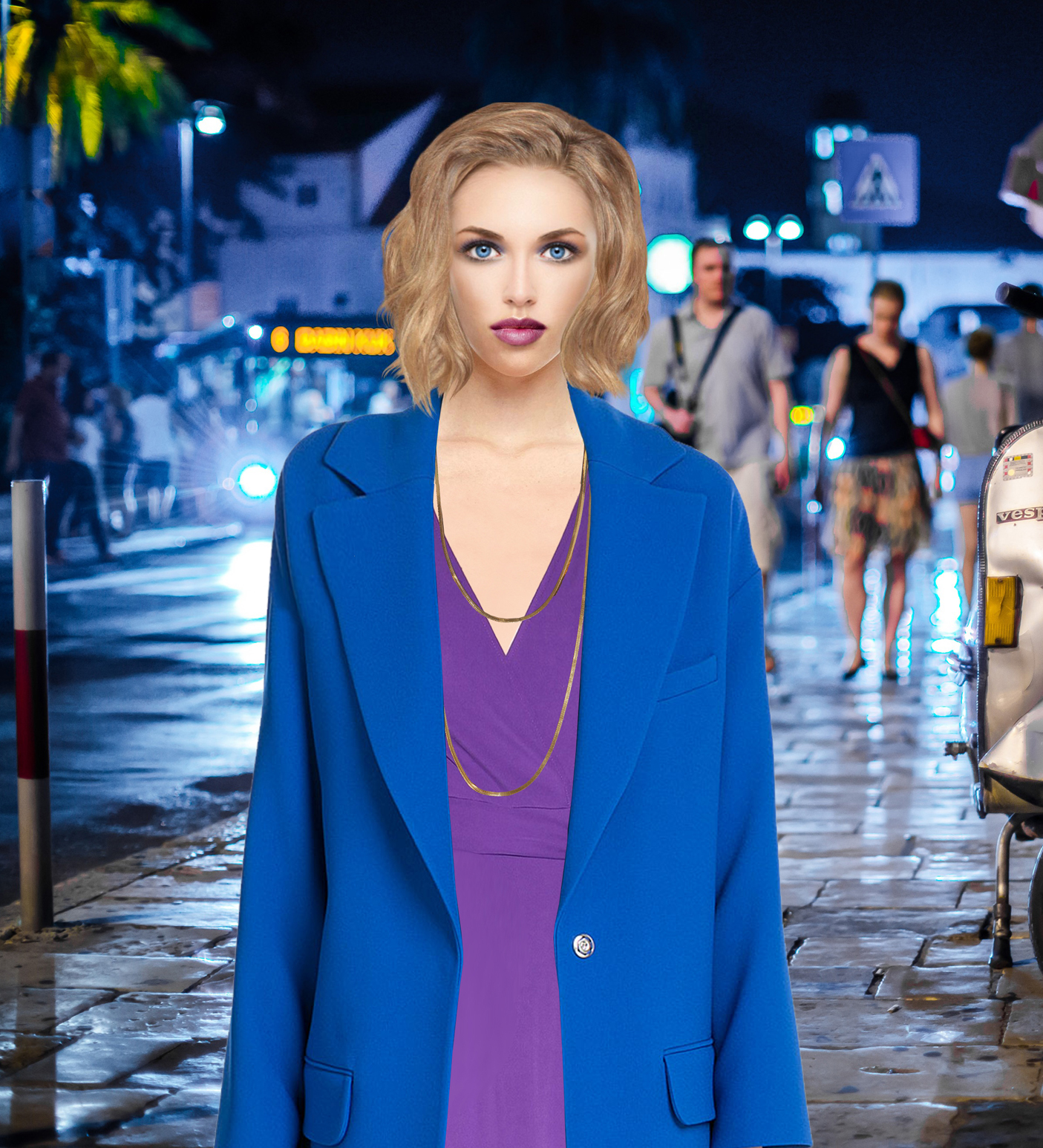 Blue Model Can You Wear A Blue Coat With A Purple Dress My Fashion Wants