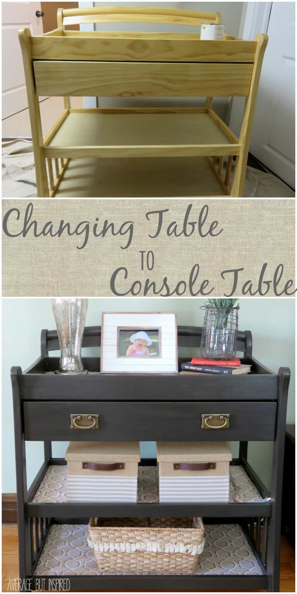 Console Table But A Changing Table Upcycle
