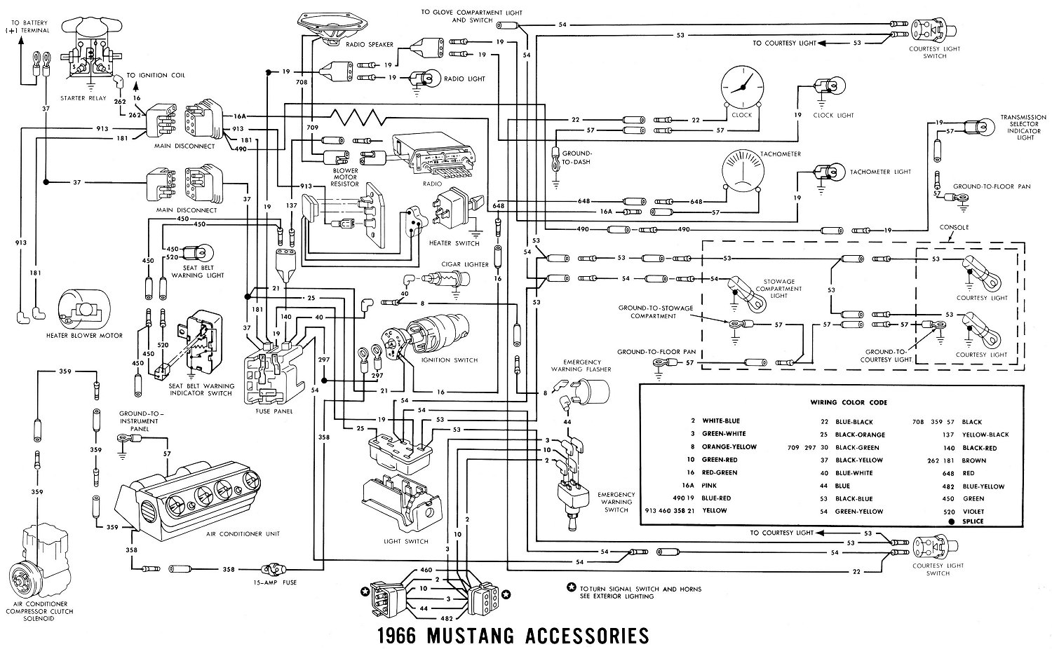 1966 ford mustang radio wiring diagram