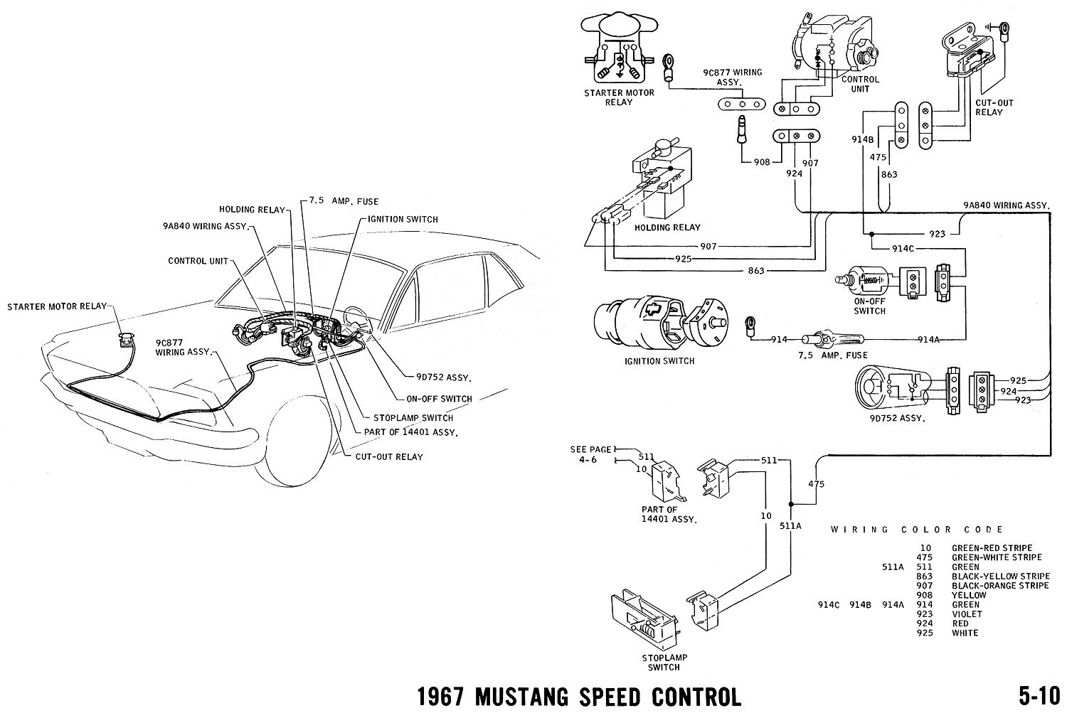 67 ford mustang alternator wiring diagram