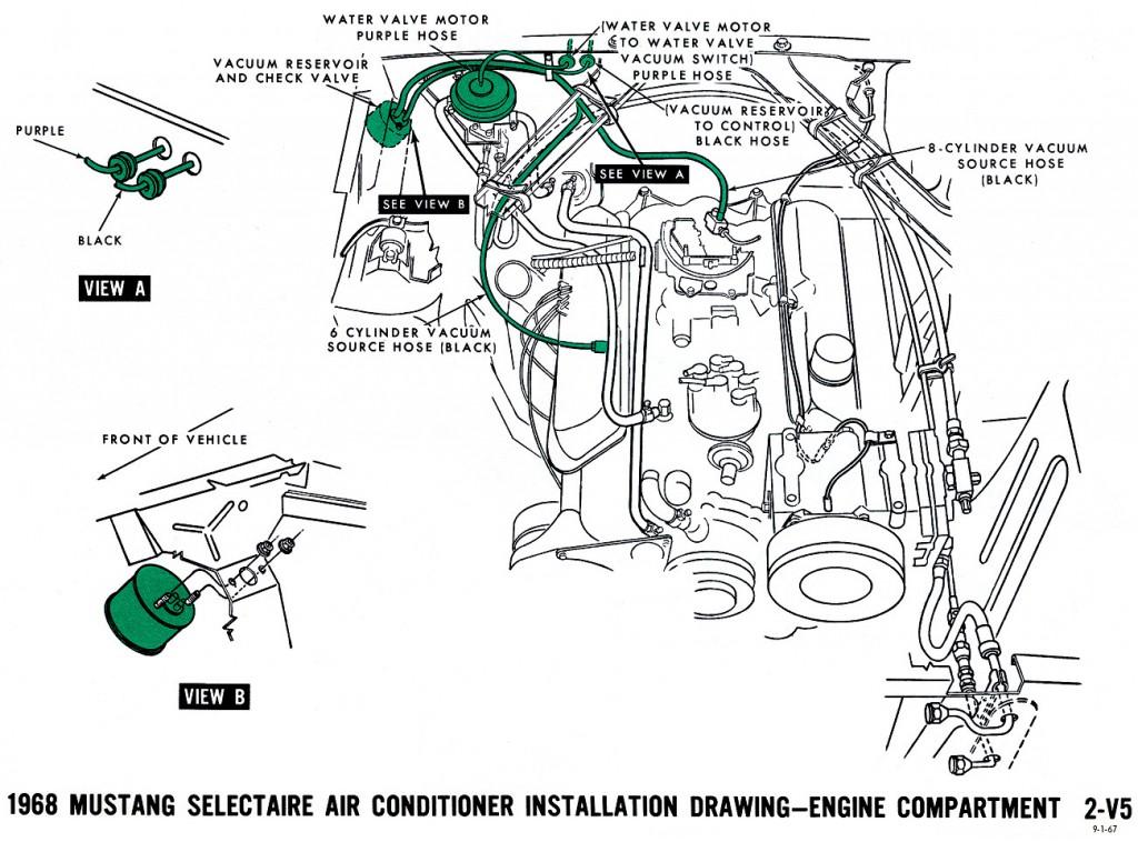 1968 Mustang Wiring Diagrams and Vacuum Schematics - Average Joe