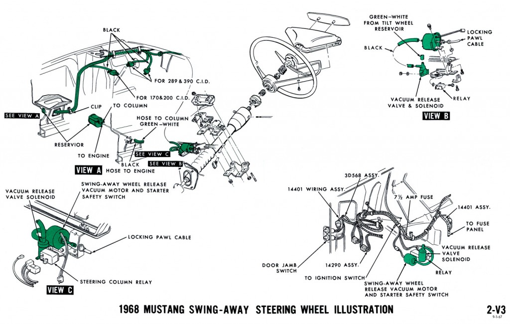 1965 mustang steering wheel wiring diagram