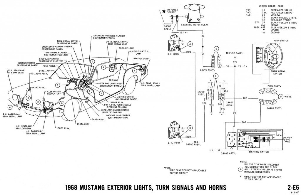 71 mustang wiring diagram
