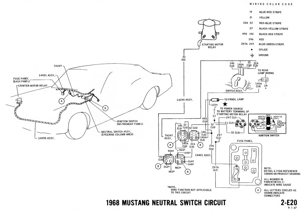 1968 ford mustang ignition wiring
