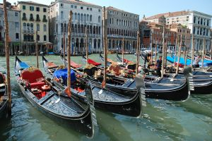 Gondolas at Grand Canal Venice