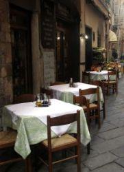 restaurant in street