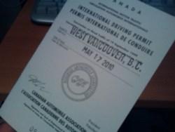 International Driving Permit (Canada)
