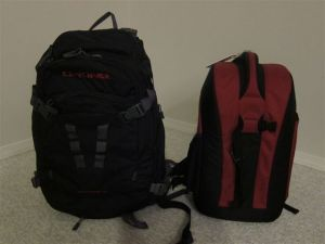 Dakine Sequence Photo and Lowepro Flipside 300