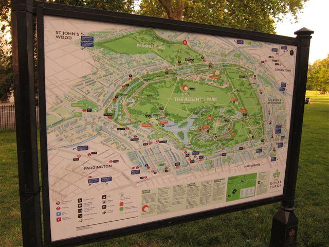 Regent's Park Map London