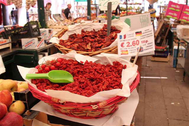 Dried cherry tomatoes at Rialto Market