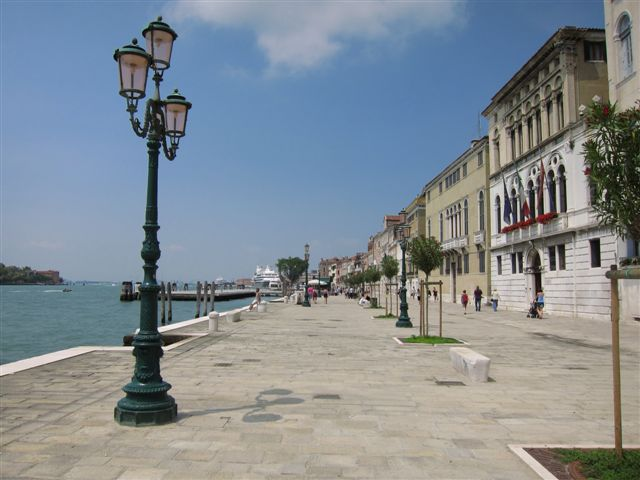 Waterfront at Zattere in Venice