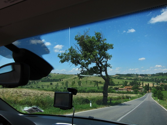 Driving in Tuscany