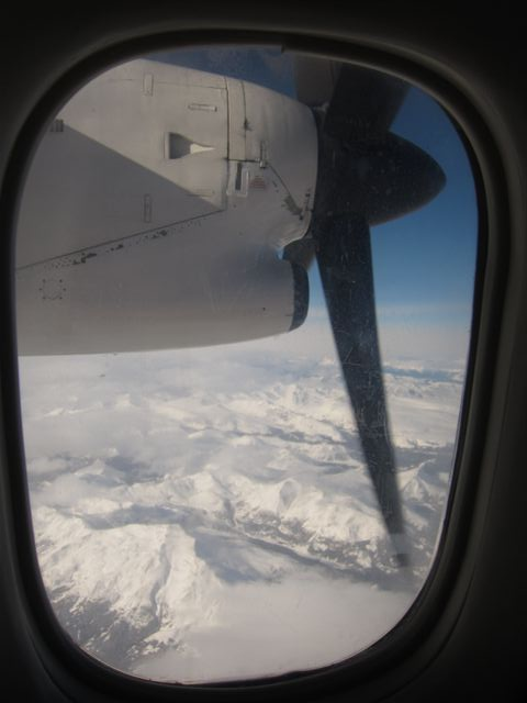 British Columbia Mountains Seen from Dash 8