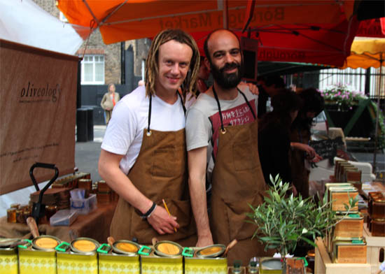 Crew from Olivology at Borough Market