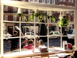 View out the window at The Providores in Marylebone