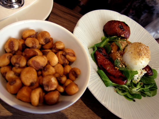Kikones and Grilled Chorizo at The Providores Marylebone
