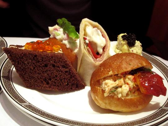 Bijoux Afternoon Tea Set Sandwiches Palm Court London