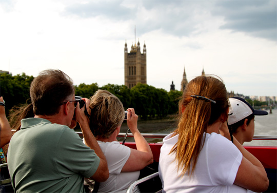 Tourists Photographing the Palace of Westminster