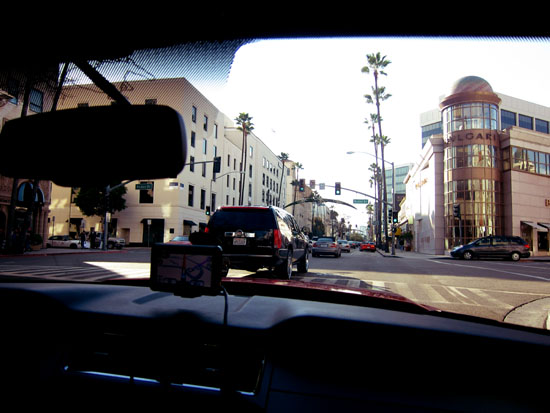 Garmin GPS Leading us to Rodeo Drive