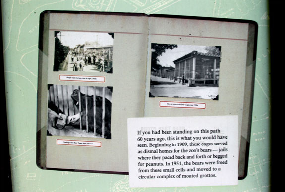 Woodland Park Zoo Old Bear Cage Sign
