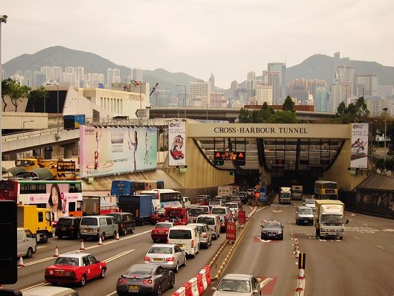 Hong Kong Cross Harbour Tunnel Kowloon Entrance