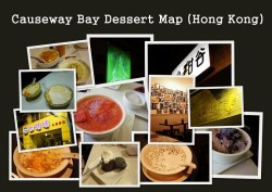 Causeway Bay Dessert Map Hong Kong 2012