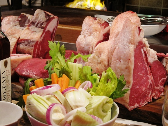 Officina della Bistecca Vegetables and Raw Meat