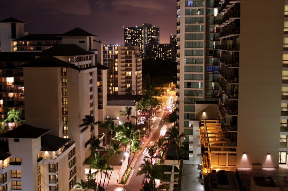 Night view from Sheraton Waikiki