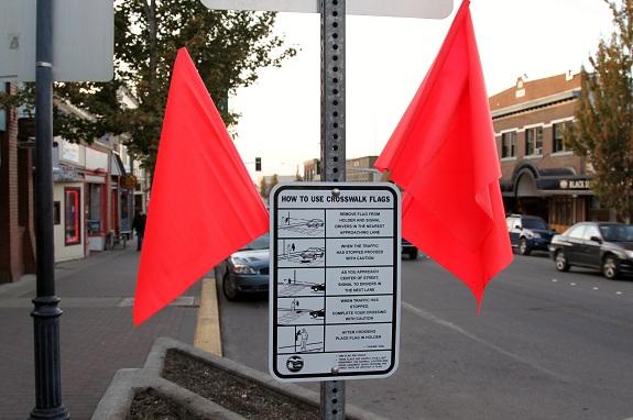 Port Angeles Crosswalk Flags