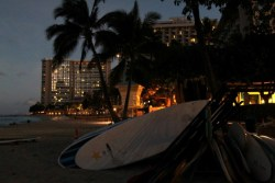 Surfboards at Dawn at Waikiki
