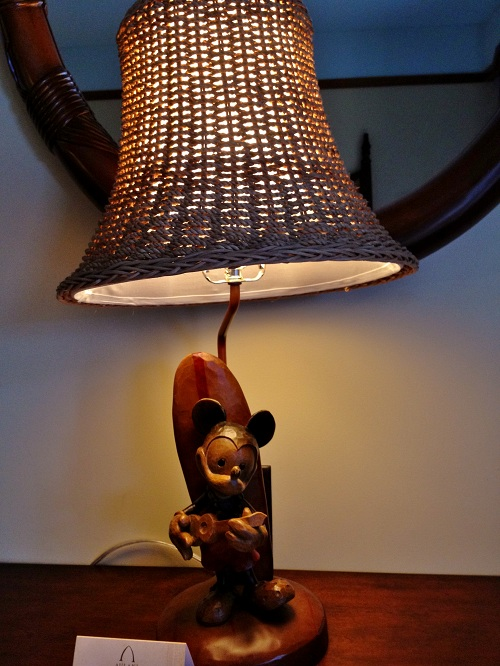 Mickey Mouse Lamp at the Aulani Resort in Hawaii