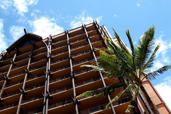 Tower at Disney's Aulani Resort in Hawaii