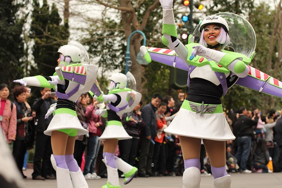 Lightyear Cheerleaders Hong Kong Disneyland Parade