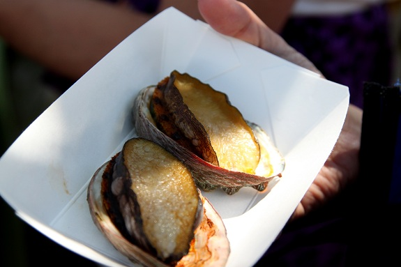 BBQ Abalone at Kapiolani Saturday Farmers Market