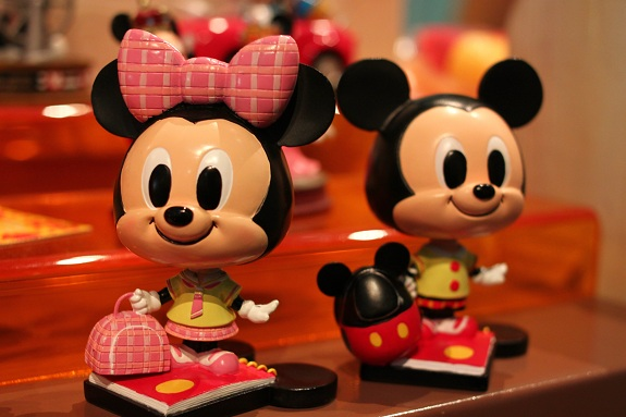 Mickey and Minnie Bobbleheads