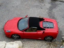 Ferrari Parked in Nice France