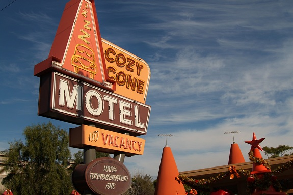 Cozy Cone Motel Sign Anaheim California