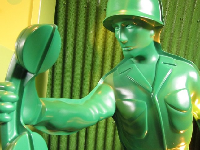 Life Sized Toy Soldier at Hong Kong Disneyland